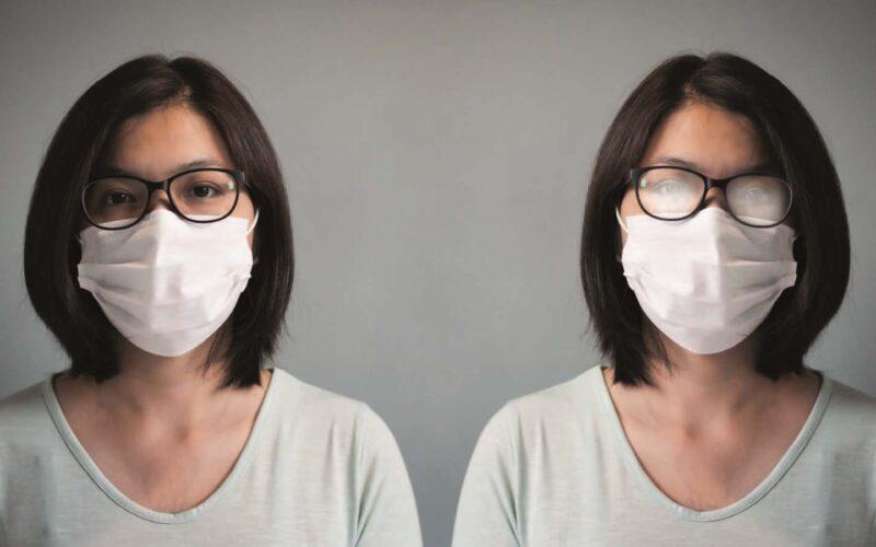 Voorkom aandamping brilglazen voorkomt bij gebruik mondmasker